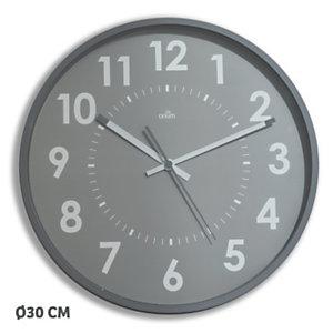 ORIUM Horloge murale silencieuse à quartz, diamètre 30cm - Aluminium