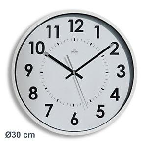 ORIUM Horloge murale silencieuse à quartz, diamètre 30cm - Blanc