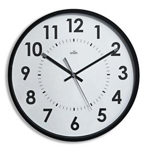 ORIUM Horloge murale silencieuse à quartz, diamètre 30cm - Noir