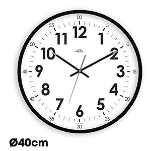 ORIUM Horloge murale silencieuse à quartz, diamètre 40cm - Noir