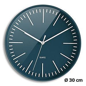 ORIUM Horloge Tendancia à Quartz, diamètre 30 cm - Bleu nuit