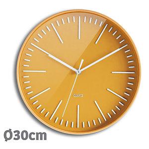 ORIUM Horloge Tendancia à Quartz, diamètre 30 cm - Jaune