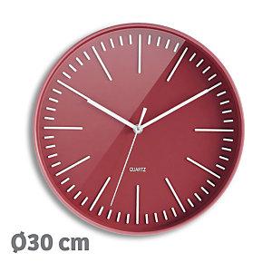 ORIUM Horloge Tendancia à Quartz, diamètre 30 cm - Rouge brique