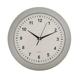 Orologio da parete Slim, Silver/Bianco, ø 30 cm