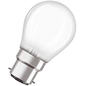 OSRAM Ampoule Led Parathom Classic P 40, 4 W 2700 B22d, dépolie, Osram