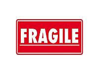 """Ostrzegawcze etykiety na paczki """"FRAGILE"""" """"SZKŁO"""""""