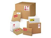Ostrzegawcze etykiety na paczki