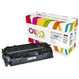 OWA Toner d'encre remanufacturé, compatible pour HP 05X CE505X - Noir