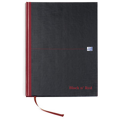 Oxford Black n' Red notebook