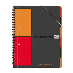 Oxford Cahier InternationalOrganiserbook A4+, double spirale, 80feuilles/160pages, carreaux de 5x5mm, 90g/m²