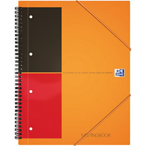 Oxford Cahier Meetingbook spirales -   - A4 maxi - Spirales - 80 g - Réglure : Quadrillé 5x5 - 24 x 32 cm