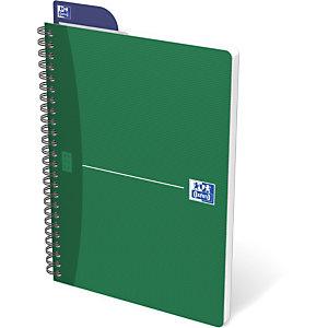 Oxford Cahier à spirale OfficeEssentials A4, couverture souple, 180pages, carreaux Seyès, couleurs assorties, compatible SCRIBZEE