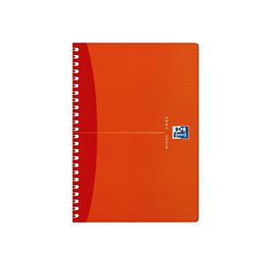 Oxford CarnetMyColoursA5 avec reliure à spirale double, règle marque-pages et pages lignées, 90g/m², 90feuilles/180pages, bleu