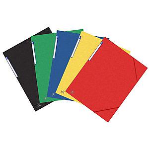 Oxford Chemises 3 rabats à élastiques Top File + A3, coloris assortis, lot de 10