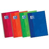 Oxford Classic Cuaderno, 4º, milimetrado, 80 hojas, cubierta extradura cartón, colores surtidos