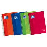 Oxford Classic Cuaderno, A4+, cuadriculado, 120 hojas, cubierta extradura cartón, colores surtidos
