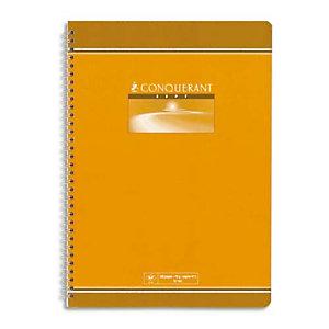 OXFORD CONQUERANT C7 Cahier reliure spirale 21x29,7 cm 100 pages 70g grands carreaux séyès
