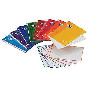 Oxford Cuaderno, A5, cuadriculado, 120 hojas, cubierta extradura cartón plastificado, colores surtidos