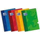 Oxford Cuaderno, Folio, pautado, 80 hojas, cubierta blanda cartón plastificado, colores surtidos