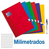 Oxford Cuaderno grapado, A4, milimetrado, 48 hojas, cubierta blanda cartón plastificado, colores surtidos
