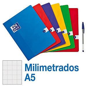 Oxford Cuaderno grapado, A5+, milimetrado, 48 hojas, cubierta blanda cartón plastificado, colores surtidos