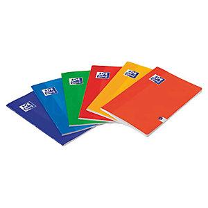 Oxford Cuaderno-libreta, A5, rayado horizontal, 48 hojas, cubierta cartón plastificado, colores surtidos