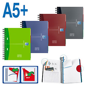 Oxford European Book 4 Cuaderno, A5+, cuadriculado, 100 hojas, cubierta dura cartón, colores surtidos