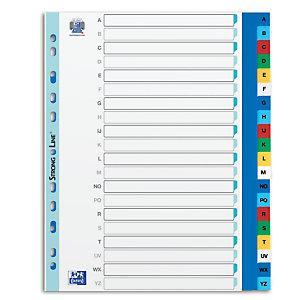 Oxford Intercalaires alphabétiques maxi A4+ en polypropylène, 20 divisions - Assortis