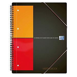 Oxford International Meetingbook Blocco a spirale doppia A4+, 80 fogli/160 pagine a quadretti 5 mm, 80 g/m²
