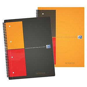 Oxford International Notebook Connect Cahier spirale A4+ 23 x 29,5 cm perforé 4 trous - ligné 6 mm - 160 pages - compatible SCRIBZEE®