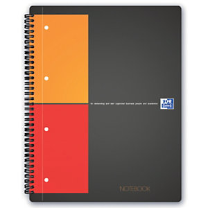 Oxford International Notebook Connect Cahier spirale A4+ 23 x 29,5 cm perforé 4 trous - petits carreaux 5x5 - 160 pages - compatible SCRIBZEE®