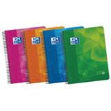 Oxford Lagoon Europeanbook 4 Cuaderno, A4+, cuadriculado, 120 hojas, cubiertas de plástico, con 3 Separadores extraibles, colores surtidos