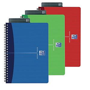 Oxford Office Essentials Blocco a spirale doppia A5, 90 fogli/180 pagine a quadretti 5x5 mm, 90 g/m²