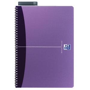 Oxford OfficeEssentials, cahier à double spirale A4, couverture souple, 100pages, quadrillé, compatible SCRIBZEE® <BR>