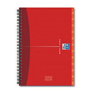 Oxford Office Essentials, carnet d'adresses A-Z, double spirale, A5, 160pages, 90g/m²