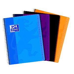 Oxford Office Essentials Cuaderno índice Alfabético A-Z con espiral doble, A5+, 90 hojas, cubierta blanda, colores surtidos