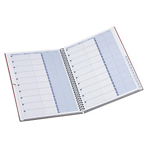 Oxford Office Essentials Libreta de direcciones A-Z con espiral doble, A5, 160 páginas, 90 g/m²