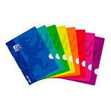 Oxford OpenFlex Cuaderno grapado, A4, cuadriculado, 48 hojas, cubierta de polipropileno, colores surtidos
