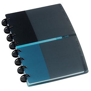 Oxford Porte-cartes de visite Proline 90 cartes L.16 x H.21 cm - Noir/bleu
