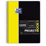 Oxford Project Book 1 Cuaderno, A4, cuadriculado, 80 hojas, cubierta polipropileno, amarillo y negro