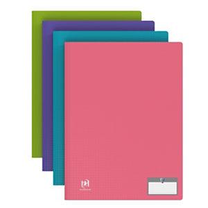 Oxford Protège-documents Memphis Style en polypropylène, 40 pochettes- Coloris assortis