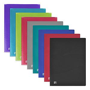 Oxford Protège-documents Osmose A4, 20 pochettes en polypropylène - Couvertures opaques/translucides coloris assortis