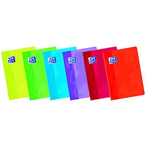 Oxford SCHOOL Cuaderno grapado, A5+, cuadriculado de 5 x 5 mm, cubierta blanda, colores surtidos