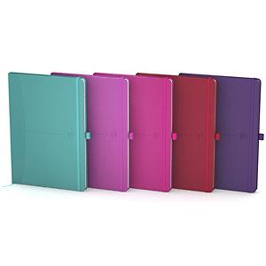 Oxford Signature Cuaderno, A5, cuadriculado, 96 hojas, cubierta extradura poliuretano, colores surtidos, compatible con SCRIBZEE®