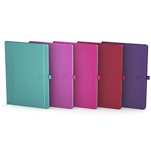 Oxford Signature Cuaderno, A5, liso, 80 hojas, cubierta extradura poliuretano, colores surtidos, compatible con SCRIBZEE®