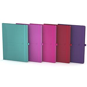 Oxford Signature Cuaderno, B5, pautado, 80 hojas, cubierta extradura poliuretano, colores surtidos, compatible con SCRIBZEE®