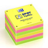 Oxford Spot Notes Notas Adhesivas Bloques 75 x 75 mm, colores surtidos, 80 hojas