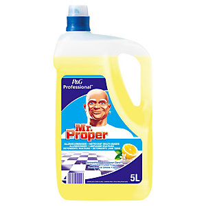 P&G Professional Bidon MR PROPRE - Nettoyant multi-usage - Citron - 5 L