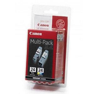 Pack 2 cartridges Canon BCI - 24PACK voor inkjet printers