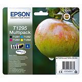 Pack de 4 cartouches Epson T1295 noir et couleurs pour imprimantes jet d'encre